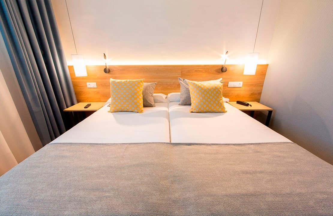 Habitacion doble con camas separadas del Hotel Aida Torrejón